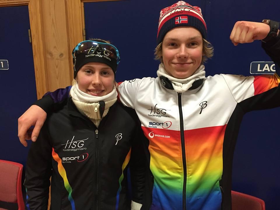 Elin Uppstad og Aron Åkre Rysstad. Foto: Øyvind Uppstad