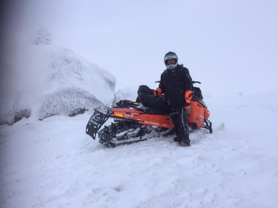 Kjetil A. Homme på tur til Ljom 9. januar 2016
