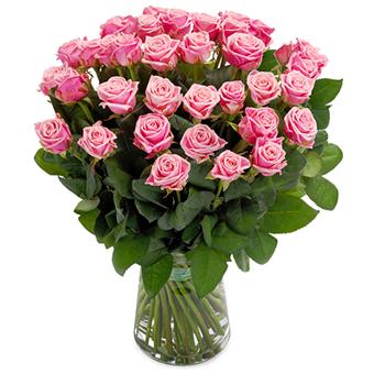 Ein rosebukett er ei fin oppmuntring