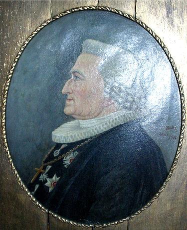 Johan Nordal Brun på eit maleri i Domkirken i Bergen. Foto: Wikimedia Commons