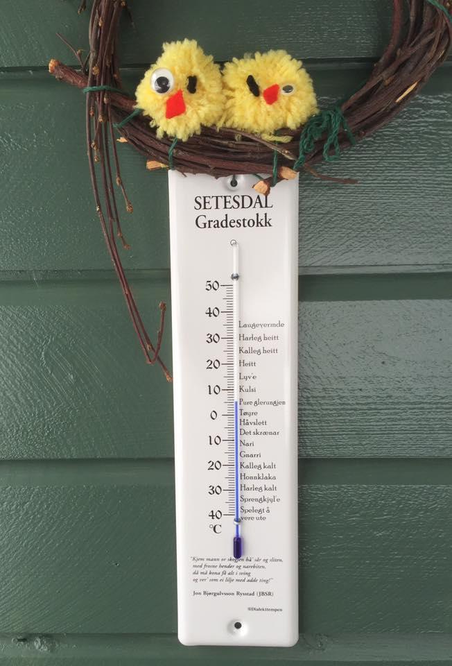 I kveld var det nokre få varmegrader. Foto: Britta Lise Homme
