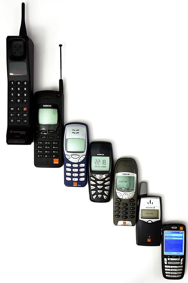 Den digitale utviklinga når det gjeld mobiltelefonar har vore rask og sterk. Foto:Wikipedia Commons