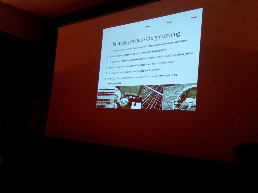 Plakaten til Sveinung Hovstad om Strategiske budskap.