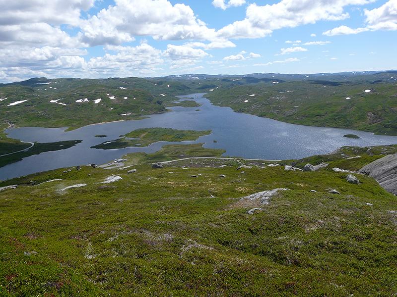 Utsikt sørover Håhellervatn. Foto: Reidar Tveito