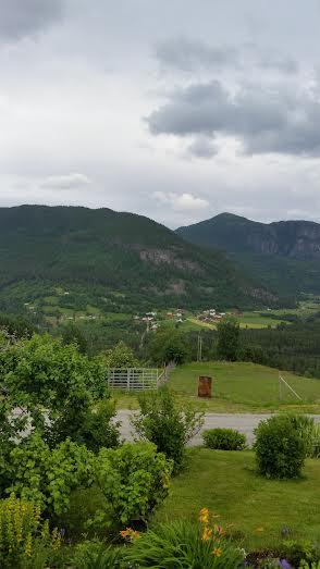 Trollet i fjellet over Hovet. Foto: Øystein Berg