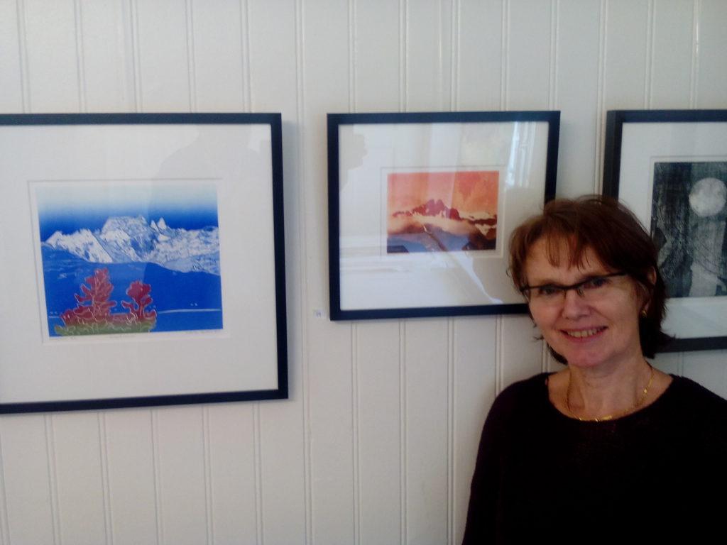 Lisbeth Skranes med Møysalen-bilete