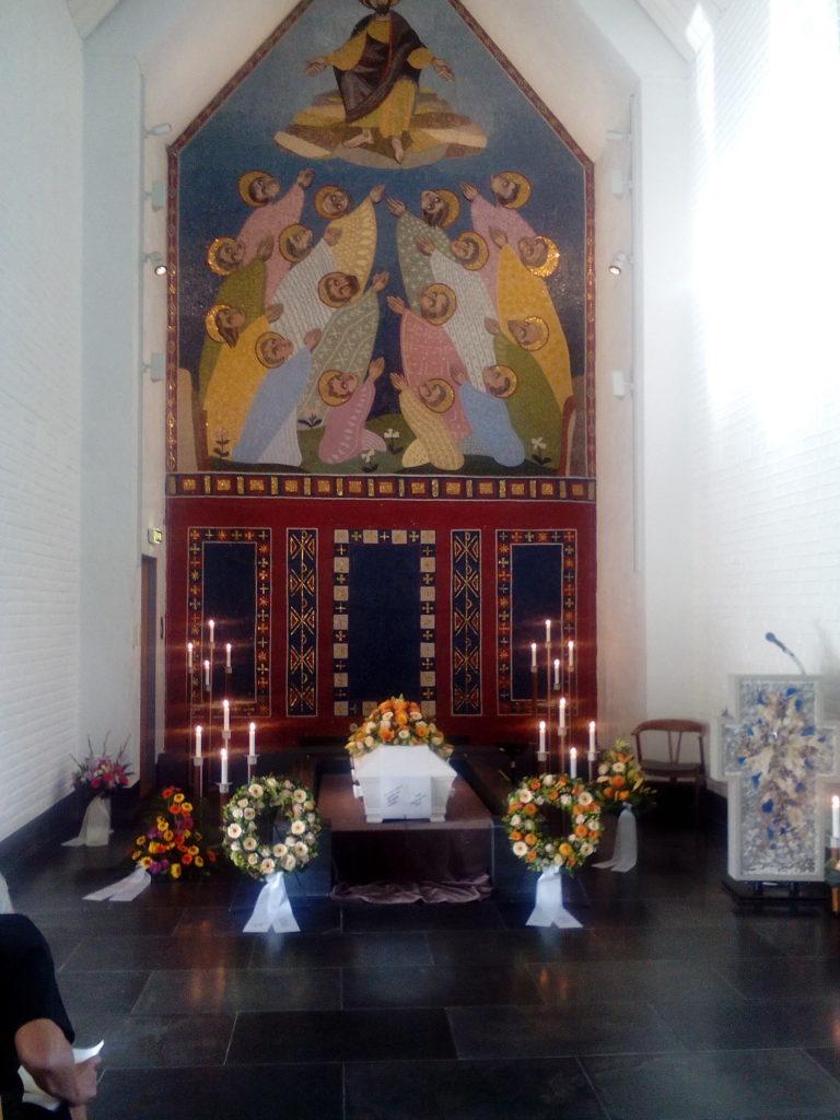 Asker kapell 20. september 2016 ved bisettelsen til Herborg Marie Lohne. Foto: Harald Haugland