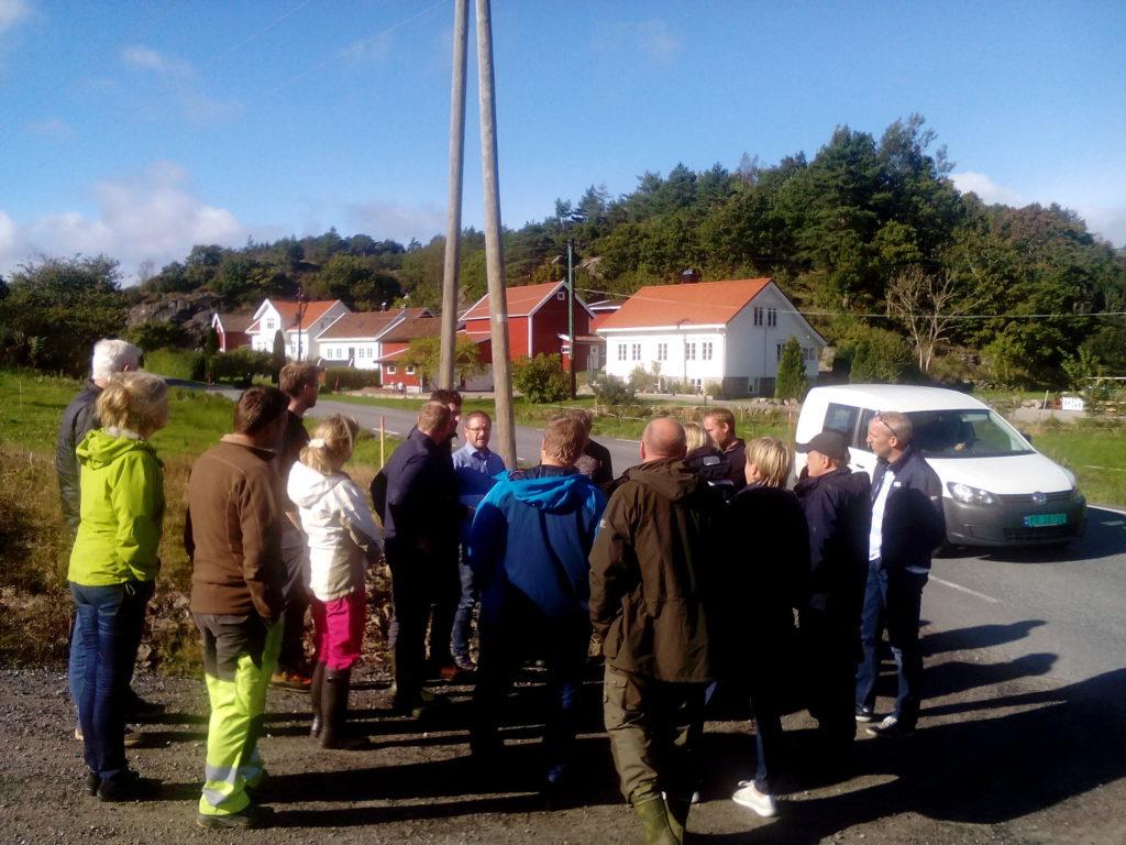 Planutvalget stoppet på Eskeland. Foto: Harald Haugland